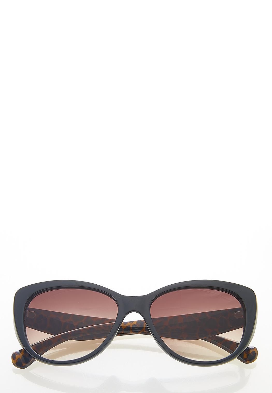 Leopard Arms Cat Eye Sunglasses