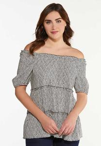 Plus Size Wildly Chic Babydoll Top
