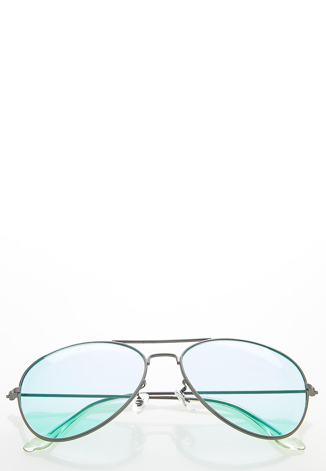 Mint Aviator Sunglasses