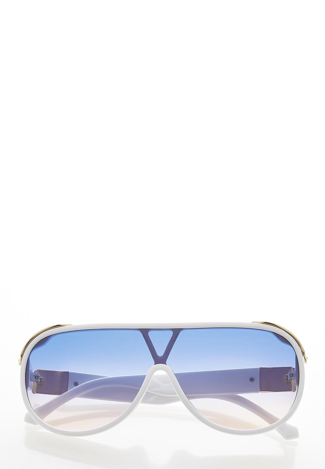White Shield Sunglasses