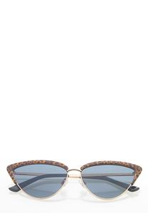 Leopard Trim Cat Eye Sunglasses
