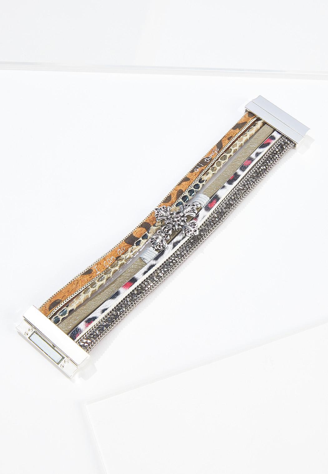 Mixed Leopard Magnetic Bracelet