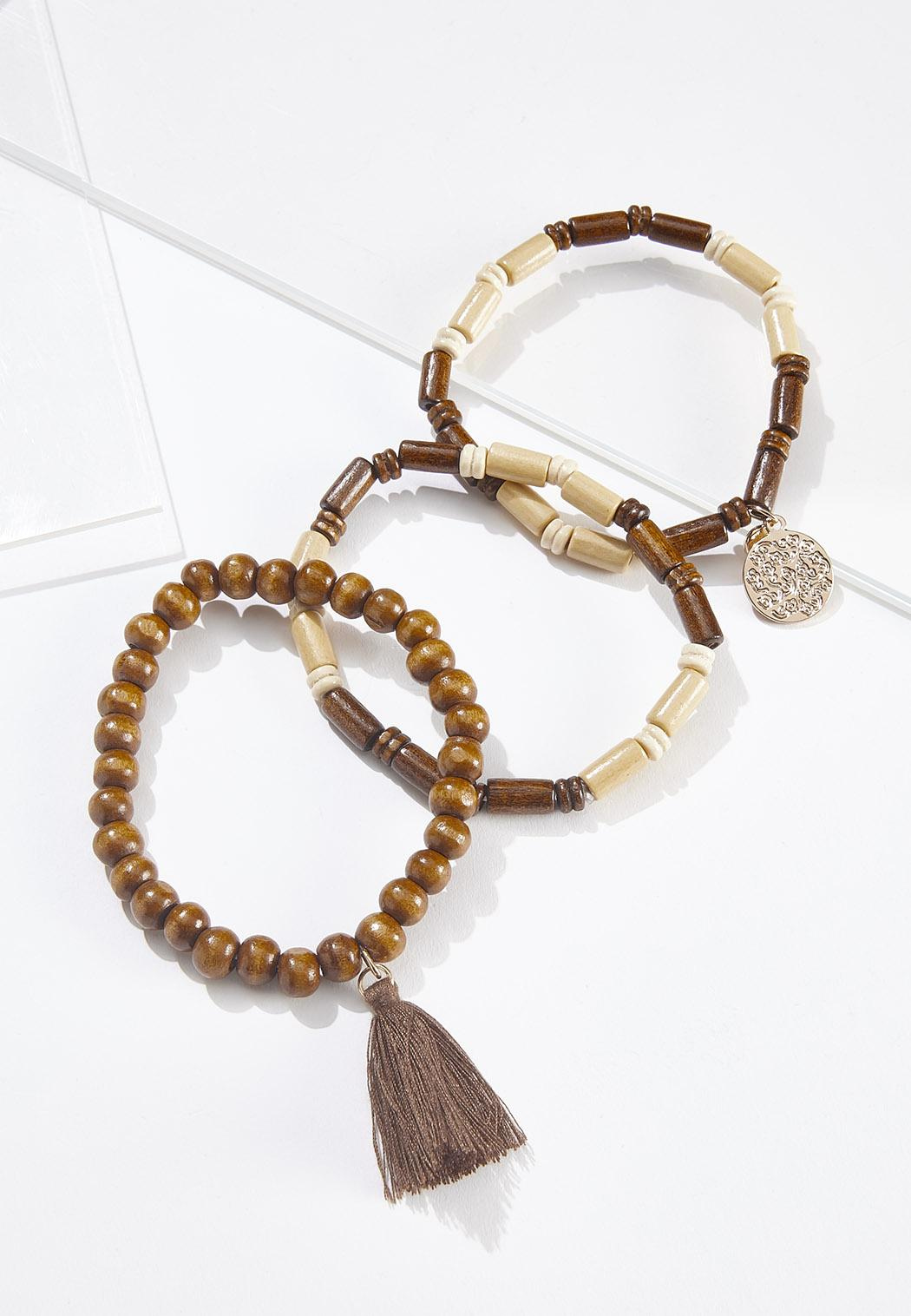 Boho Bead Stretch Bracelet Set
