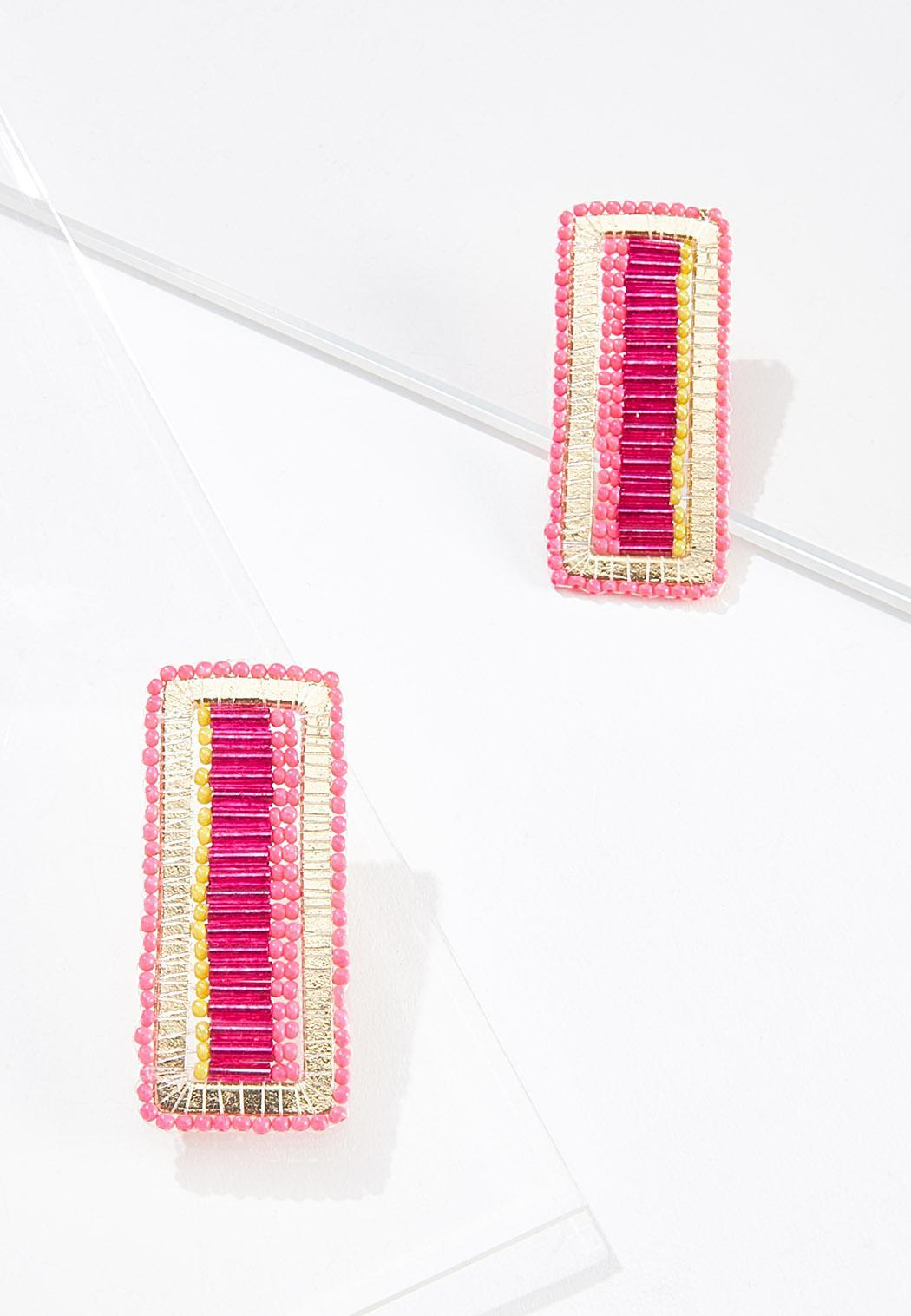 Rectangle Seed Bead Earrings