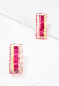 Rectangle Seed Bead Earrings