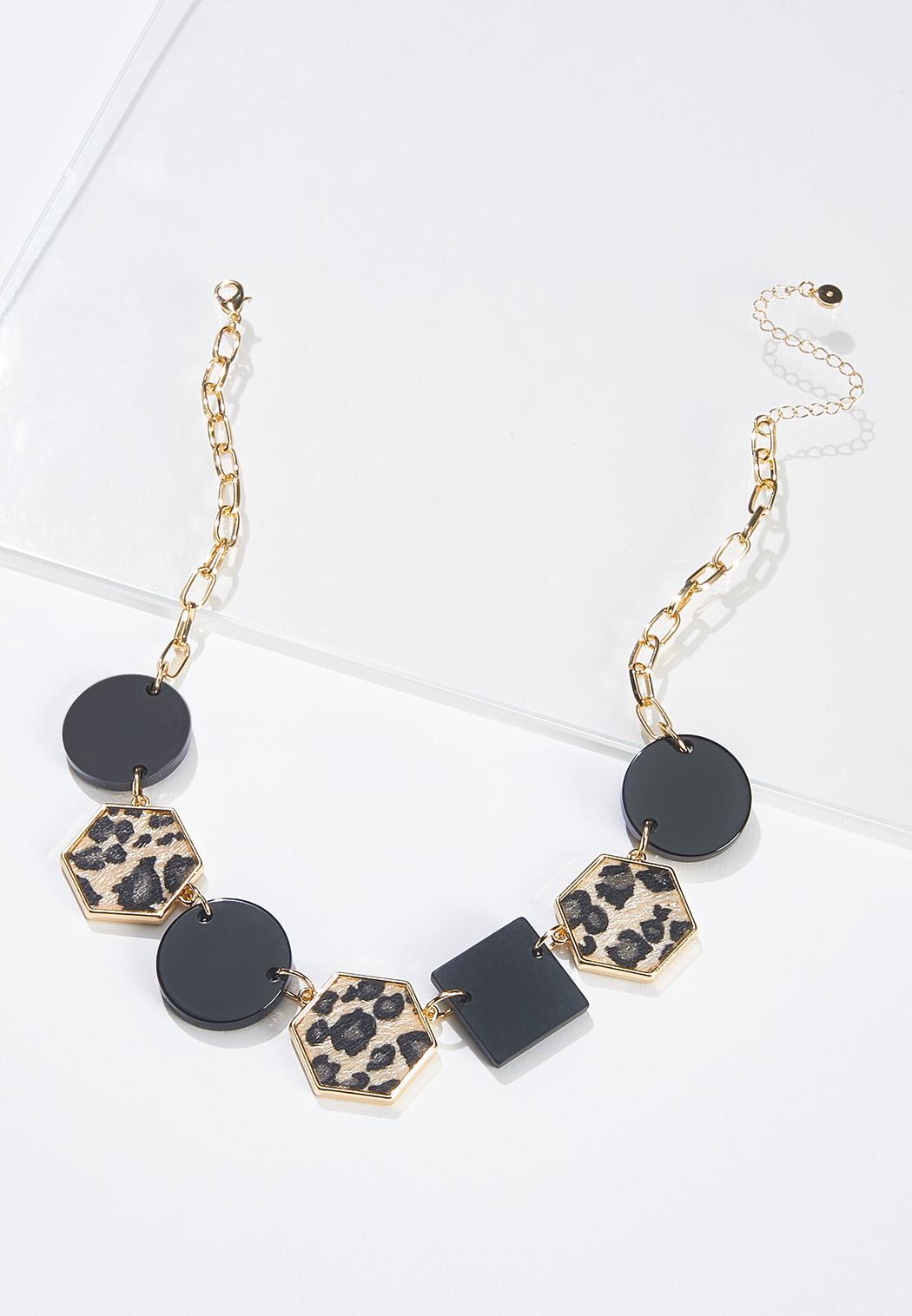 Leopard Black Shape Chain Necklace