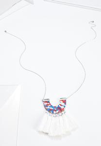Lucite Tassel Pendant Necklace