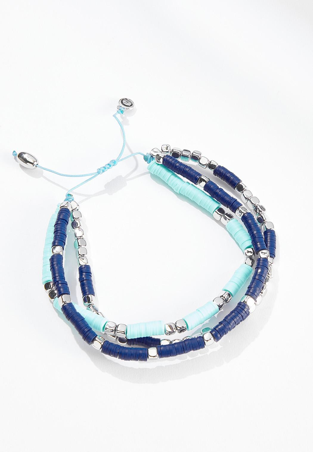 Rubber Bead Pull String Anklet