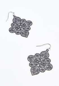 Filigree Enamel Earrings