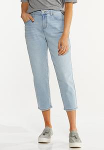 Cropped Mom Jeans