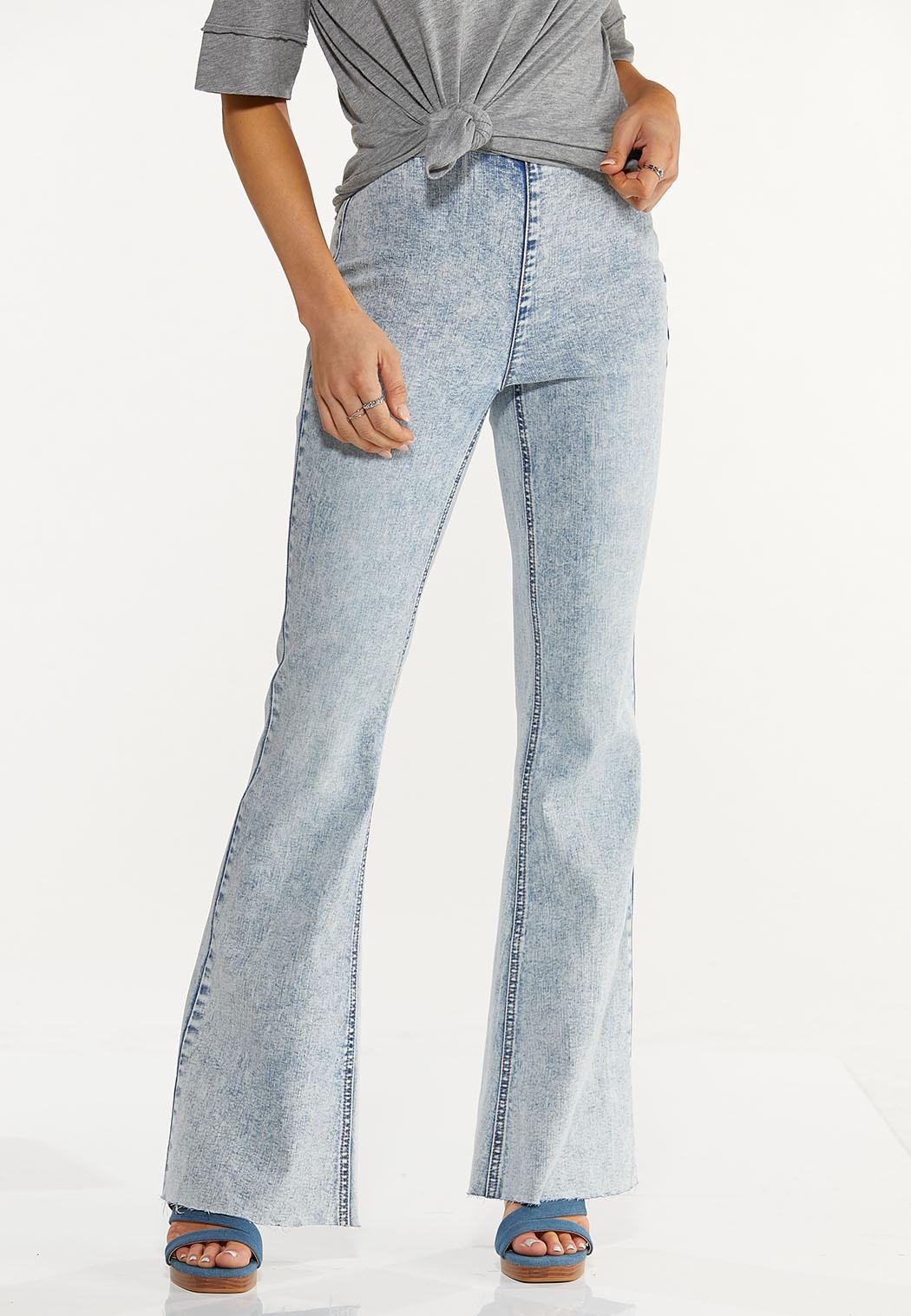 Acid Wash High Rise Jeans