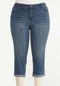 Plus Size Girlfriend Cropped Jeans