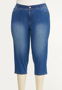 Plus Size Perfect Cropped Jeans