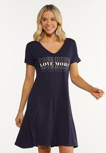 Plus Size Love More Swing Dress