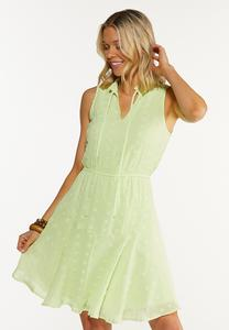 Plus Size Tiered Textured Dress