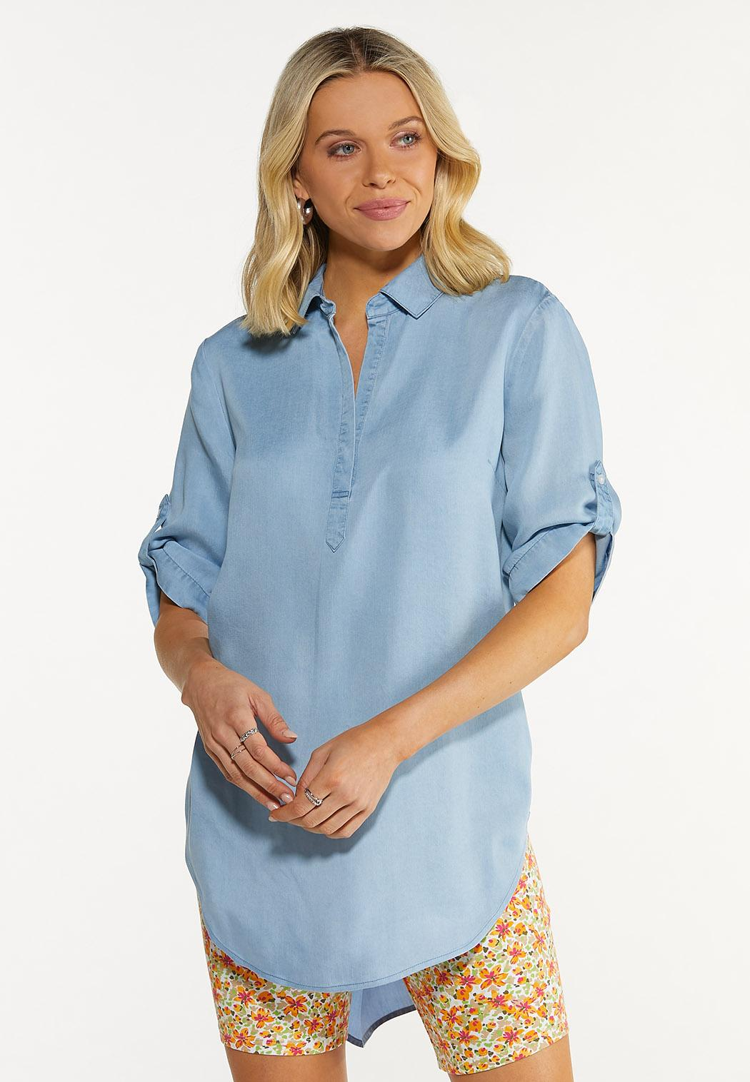 Chambray Pullover Top