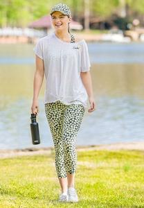 Cropped Daisy Leggings