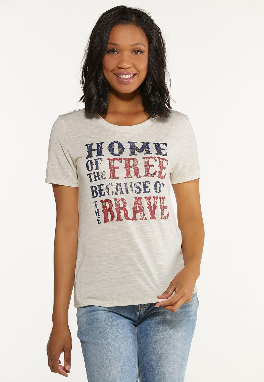 Plus Size Home Of The Free Tee