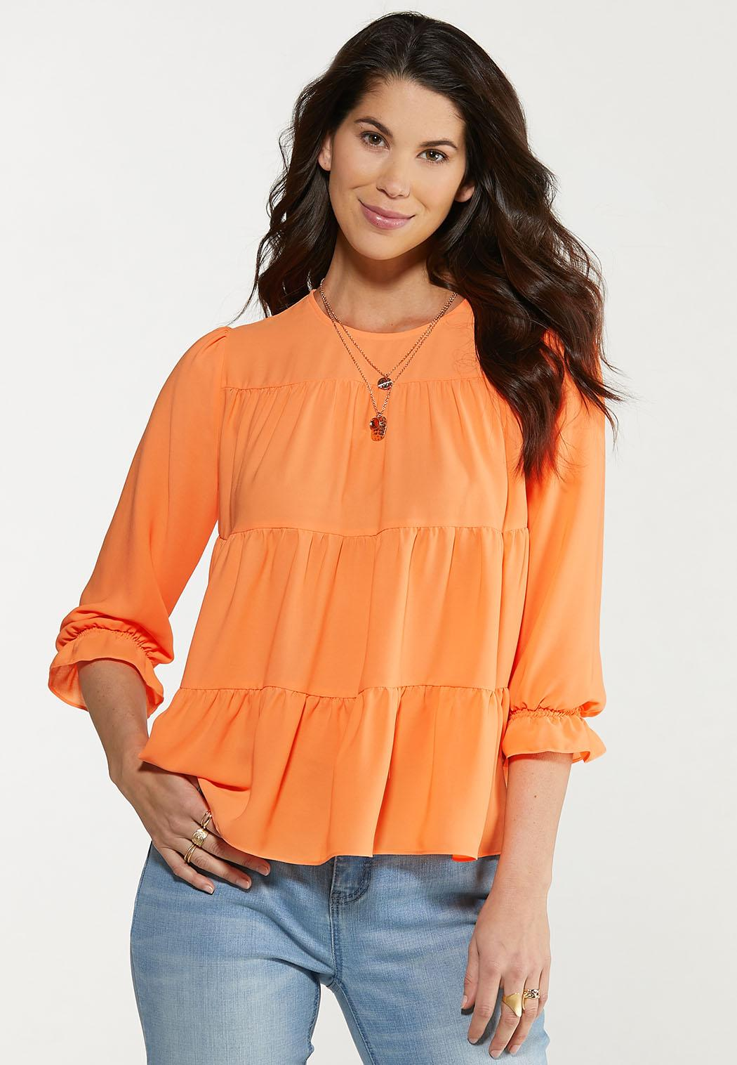 Plus Size Ray Of Sunshine Tiered Top