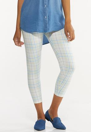 Cropped Plaid Leggings
