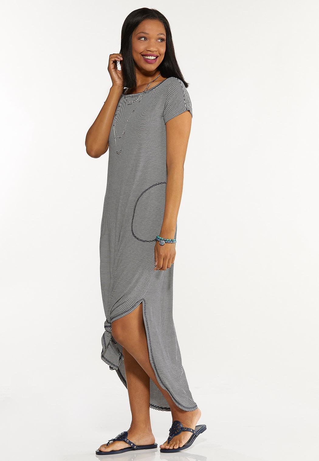 Striped Tee Maxi Dress