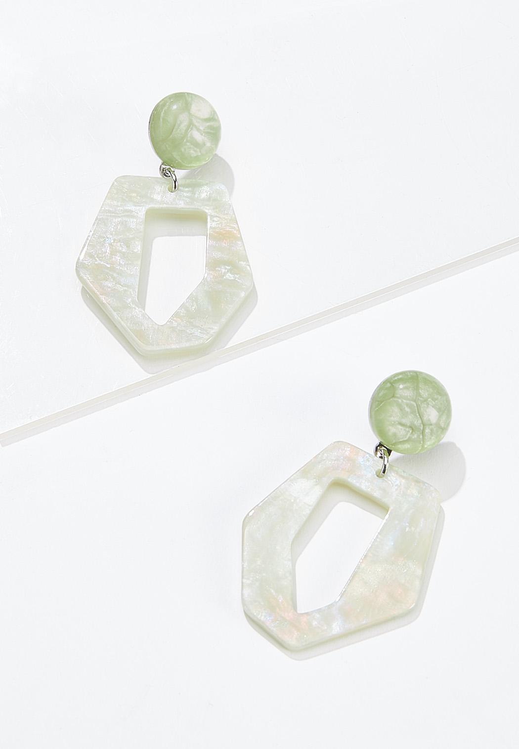 Resin Glitter Earrings