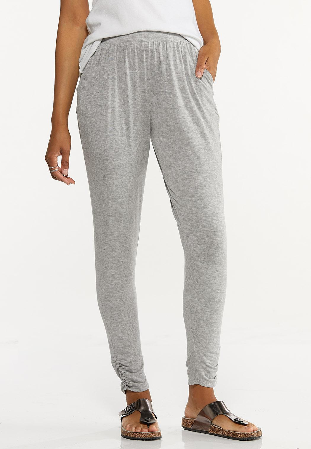 Gray Ruched Pants