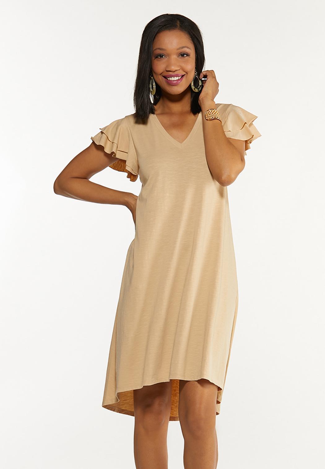 Flutter Sleeve Shirt Dress