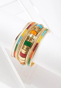 Gold Rainbow Bangle Set