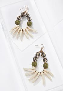 Wispy Wood Bead Earrings