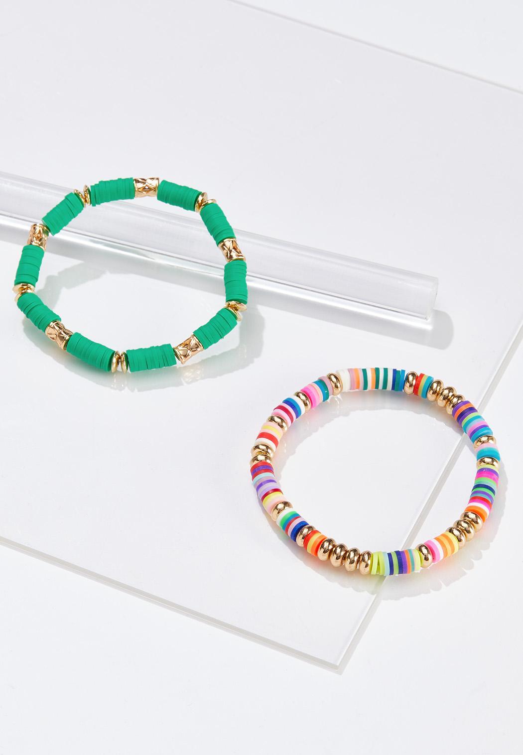 Rainbow Stretch Bracelet Set