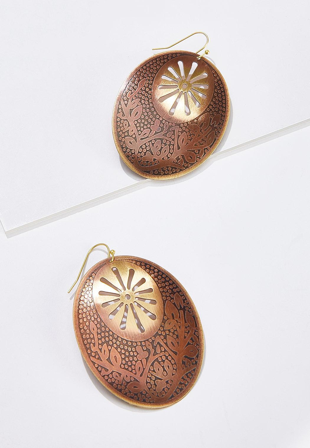 Oval Sunburst Earrings