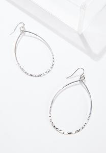Hammered Metal Earrings