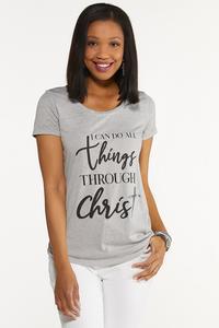 All Things Through Christ Tee