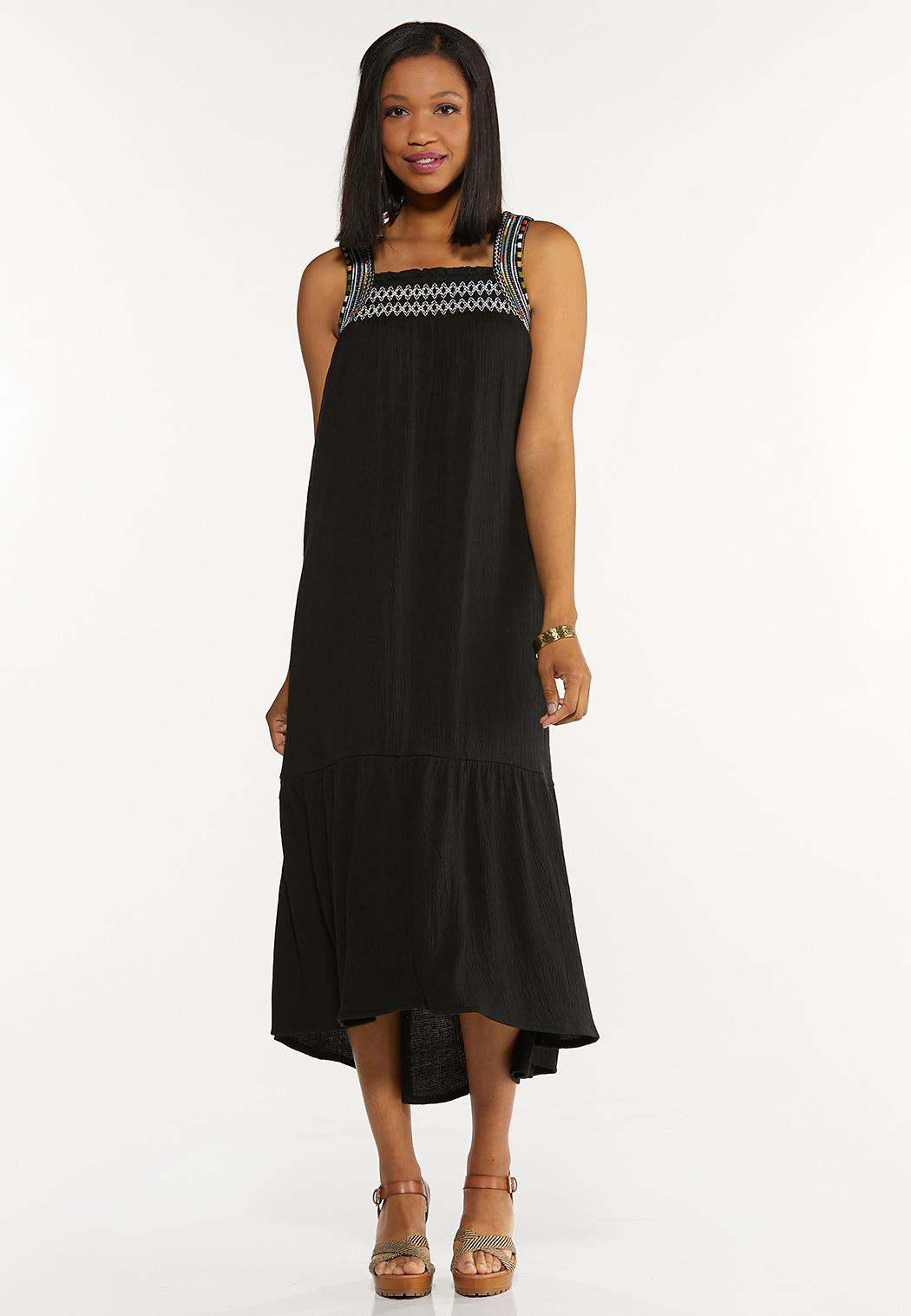Gauzy Embroidered Dress