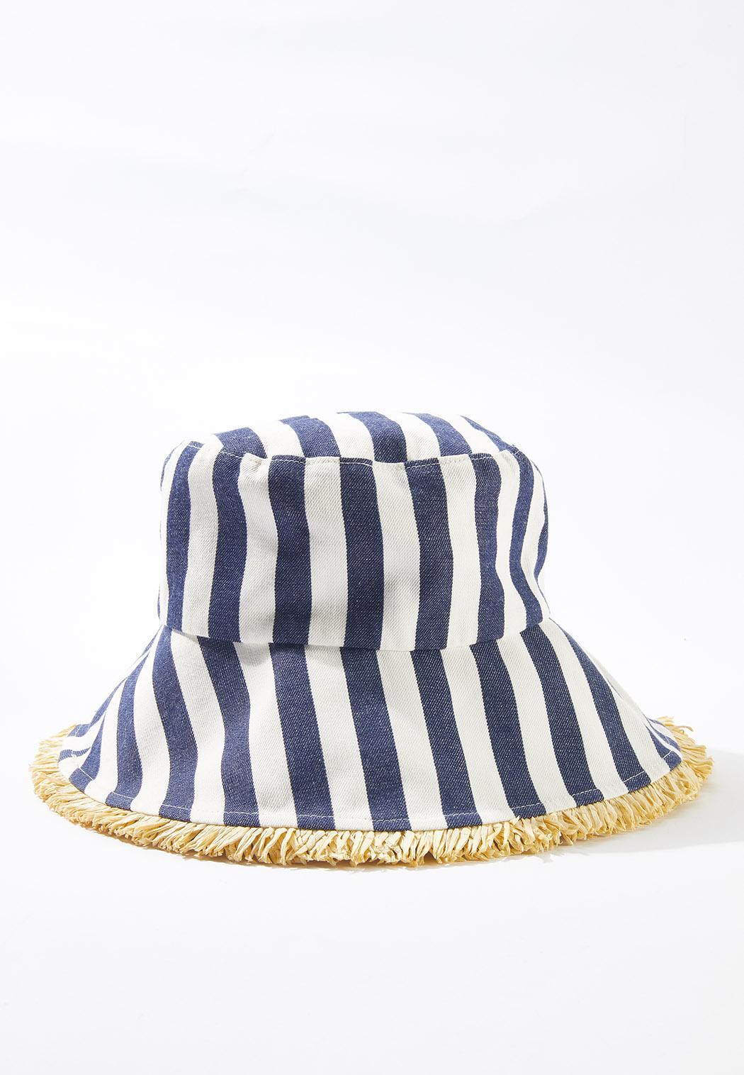 Straw Trim Bucket Hat