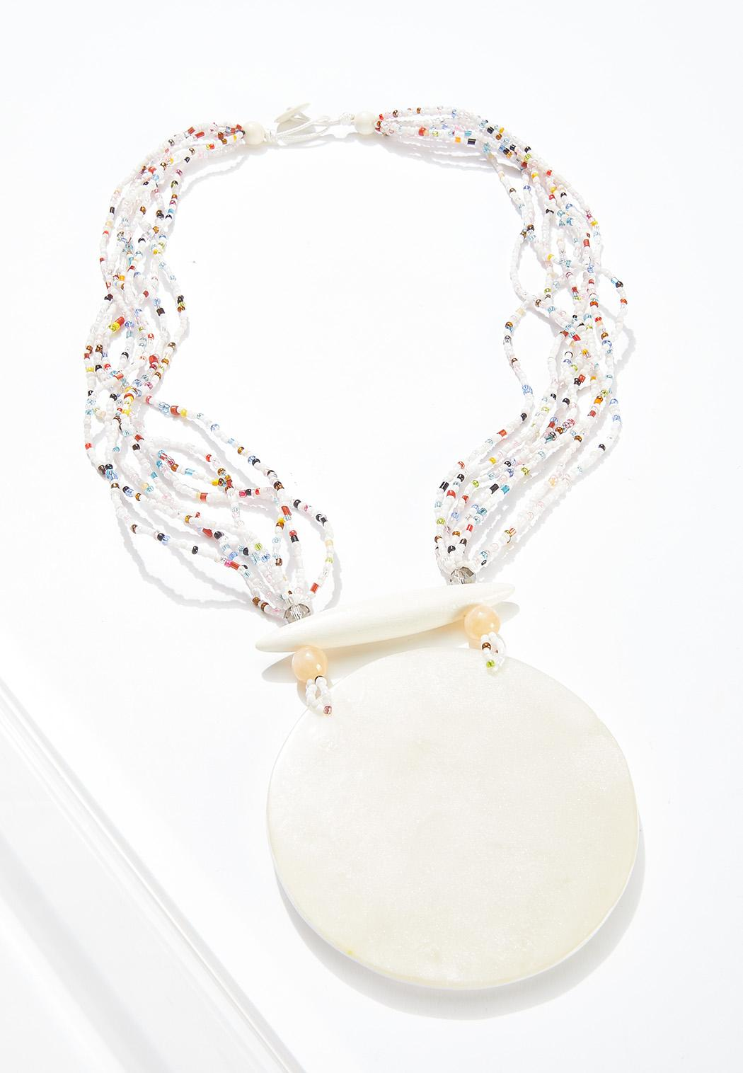 Pearly White Seed Bead Necklace