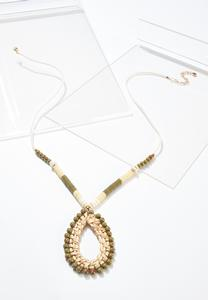 Raffia Bead Rope Necklace