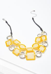 Layered Resin Link Necklace