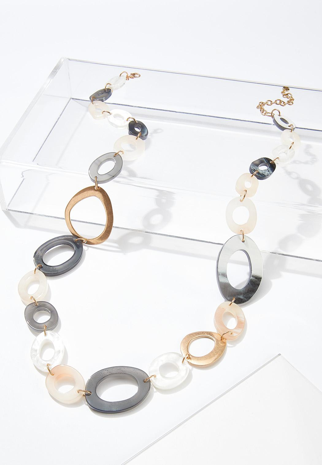Mixed Oval Link Necklace