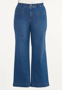 Plus Size Wide Leg Jeans