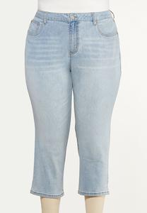 Plus Size Cropped Mom Jeans