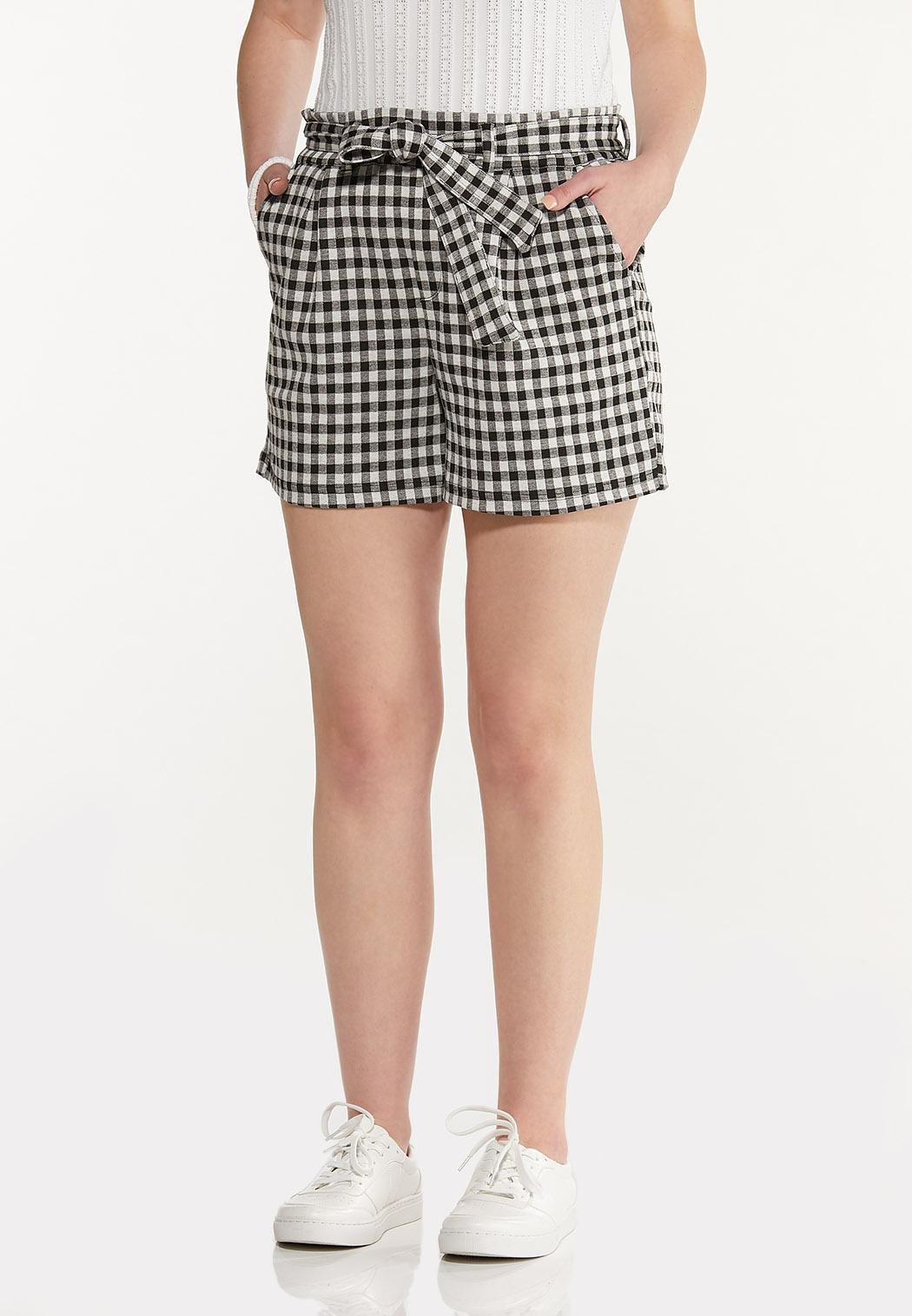 Gingham Self Tie Shorts