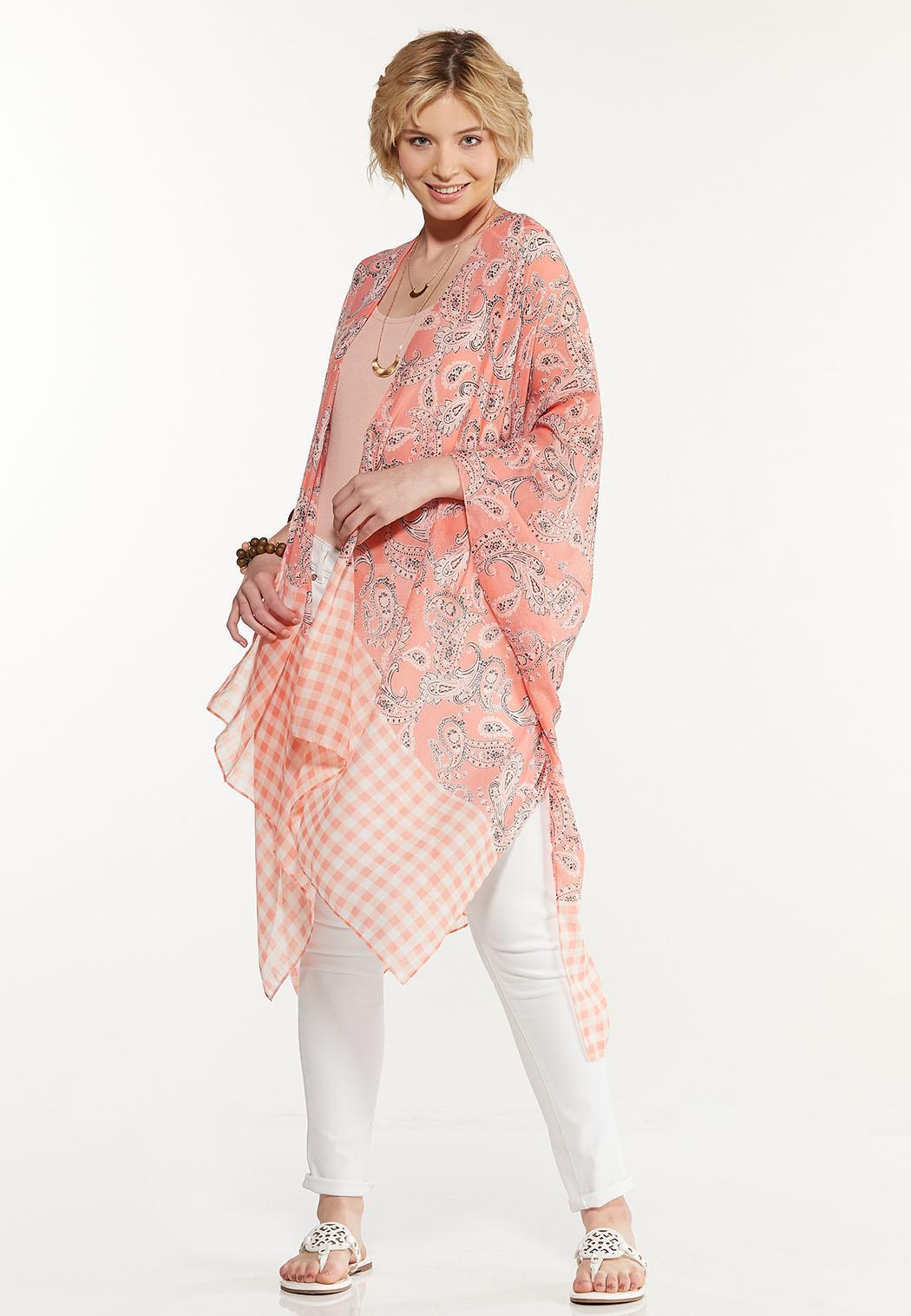 Gingham Paisley Kimono