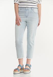 Distressed Lightwash Jeans