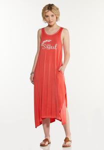 Plus Size Summer Soul Tank Dress