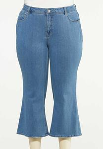Plus Size Cropped Flare Jeans