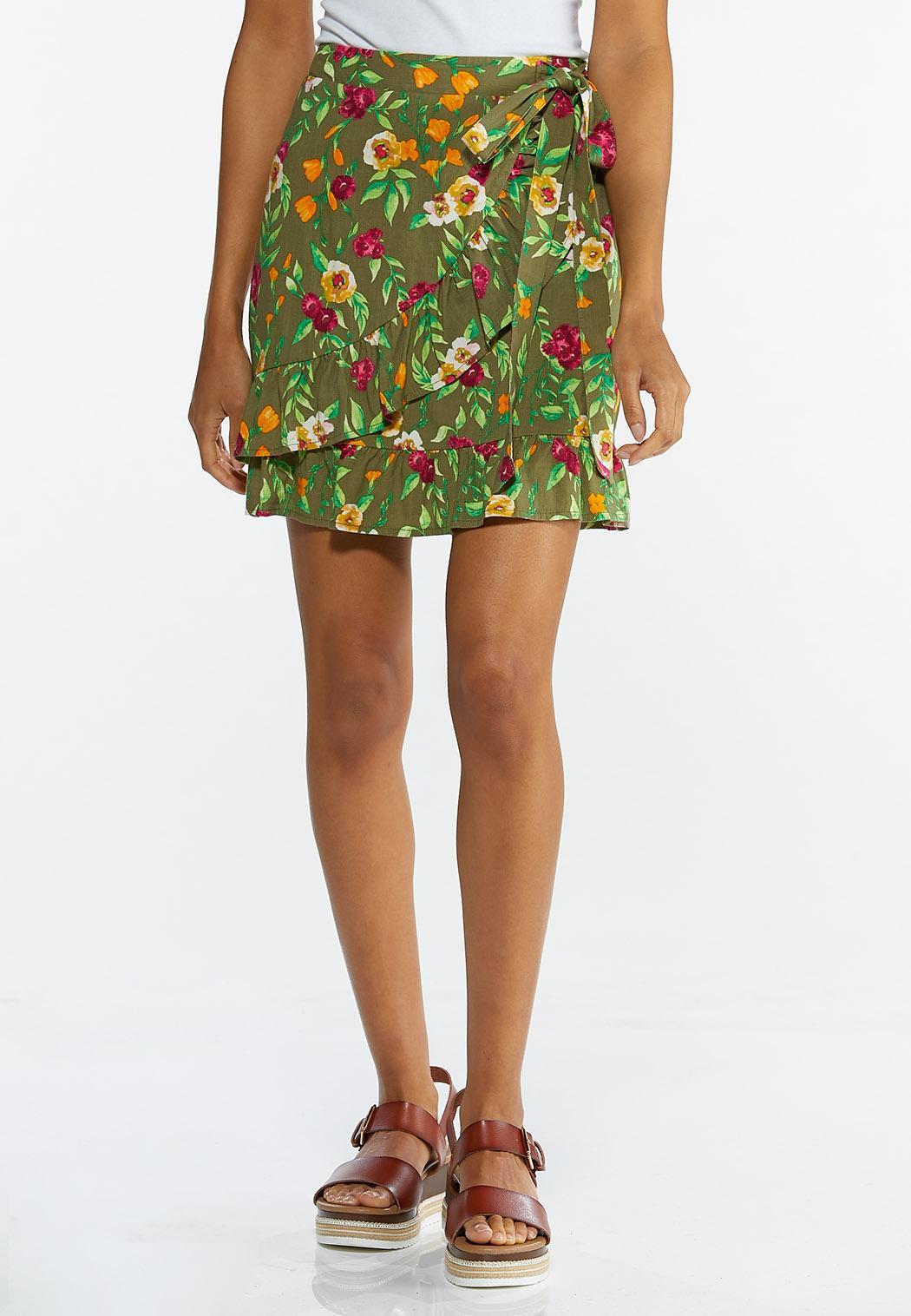 Olive Floral Skort