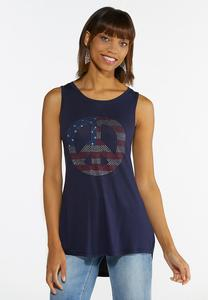 Americana Peace Sign Tank