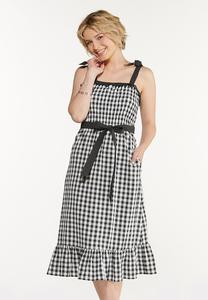 Gingham Dot Dress